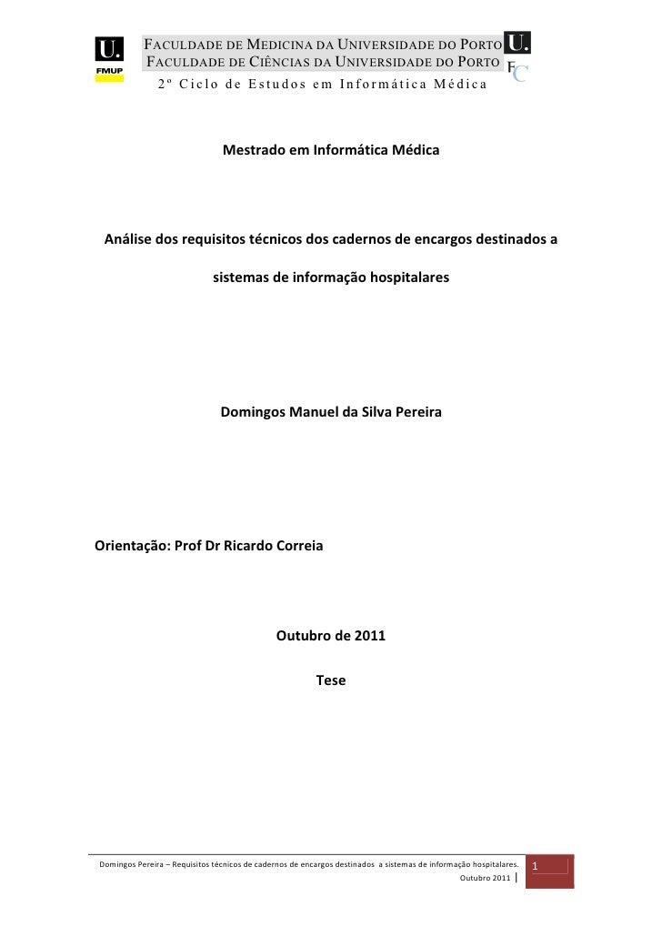 FACULDADE DE MEDICINA DA UNIVERSIDADE DO PORTO           FACULDADE DE CIÊNCIAS DA UNIVERSIDADE DO PORTO               2º C...
