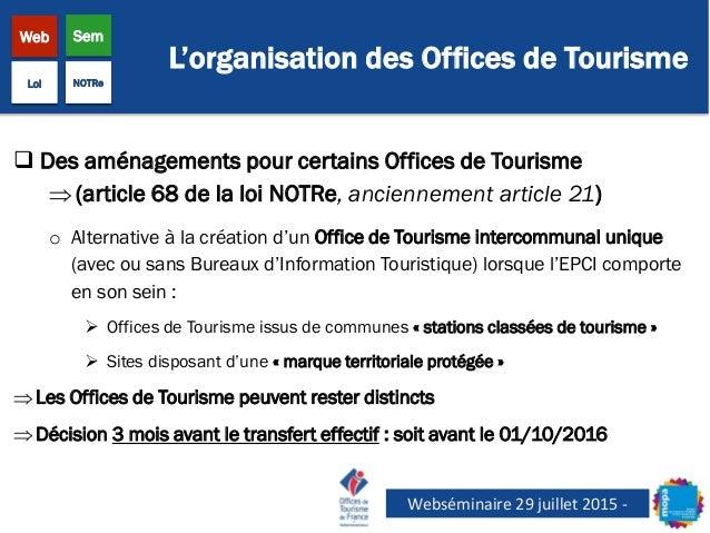 Webs minaire la loi notre 29 juillet 2015 mopa - Office du tourisme de champagny en vanoise ...