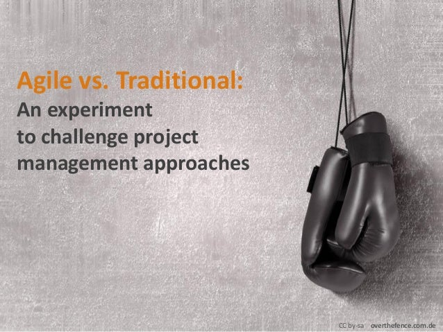 Agile vs traditional project management a game based for Agile vs traditional project management