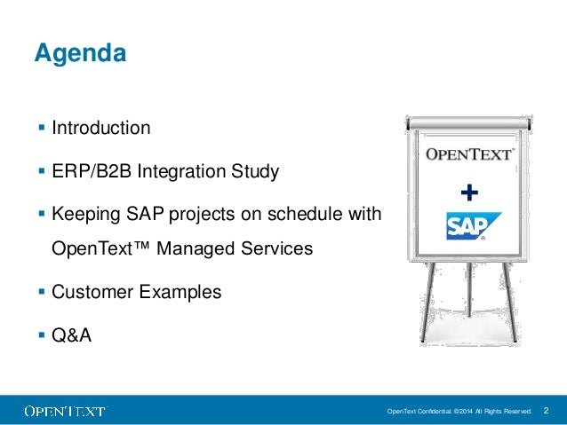 How to keep sap projects on schedule with b2b managed services how to keep sap projects on schedule with opentext managed services 2 sciox Choice Image