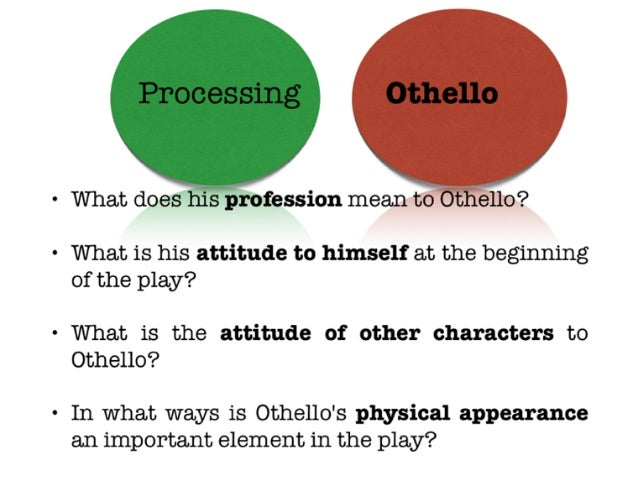 Help with othello essay