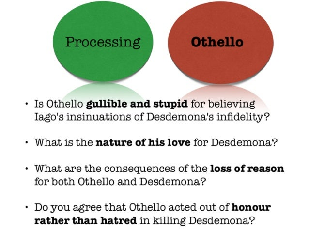 deception othello essay Deception in othello essay deception in othello one may readily perceive the theme of shakespeare's  othello  as deception  deception appears many times in othello , but in almost every incident the degree of deception is different.