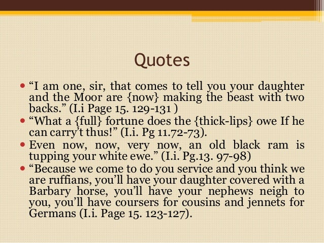 racism in othello william shakespeare 31