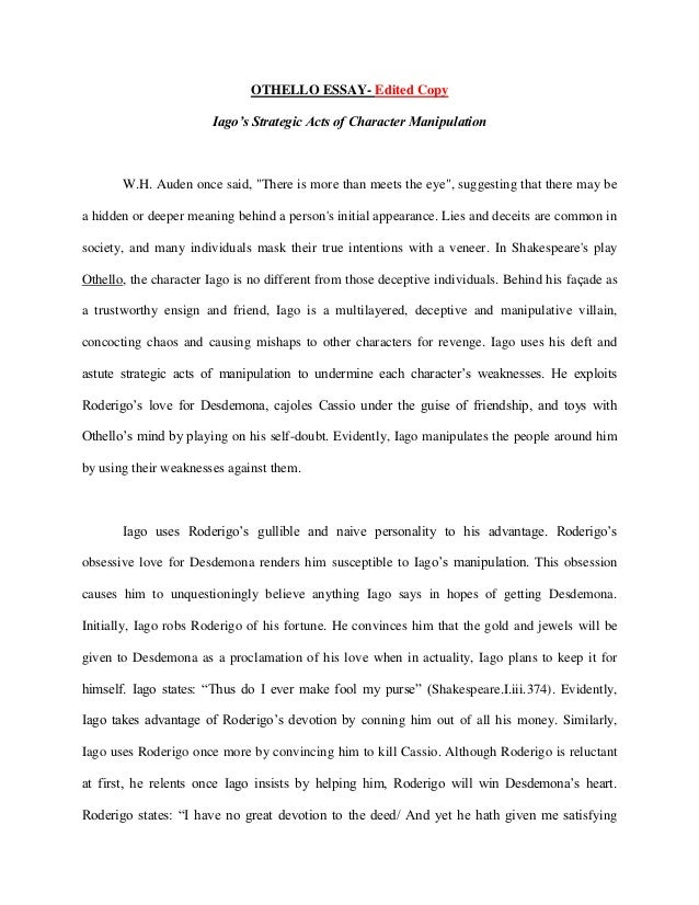 othello essay conclusion othello essay conclusion koibutiken shop  iago s jealousy in othello essay conclusion essay for you iago s jealousy in othello essay