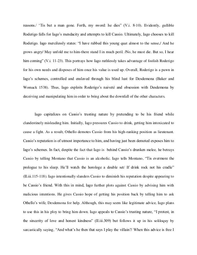 iagos manipulation of othello essay