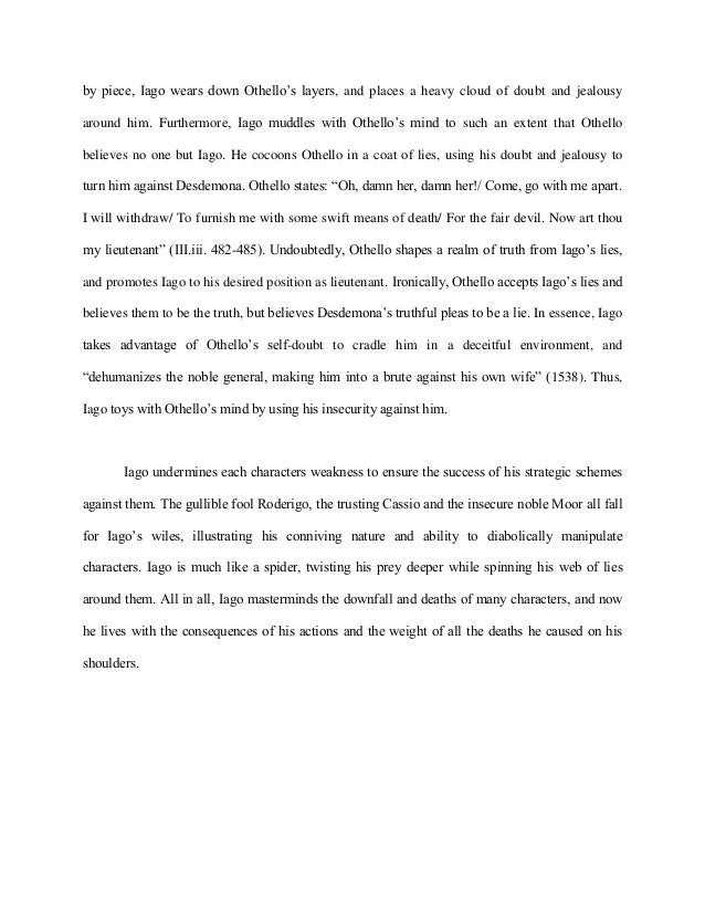 College Narrative Essay Topics To What Extent Is Othello S Jealousy Aroused By Iago S Cunning And Inspector Calls Essay also College Essay Examples Of A Personal Statement Writing Hints  Background Informationstatement Of Othello Essays  Essays On Imperialism