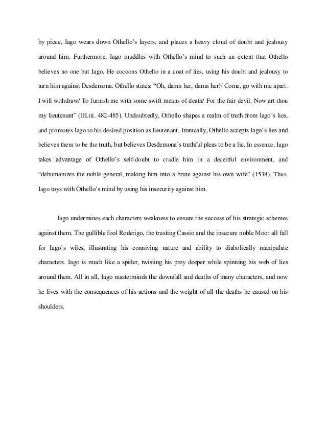 othello essay on iagos manipulation