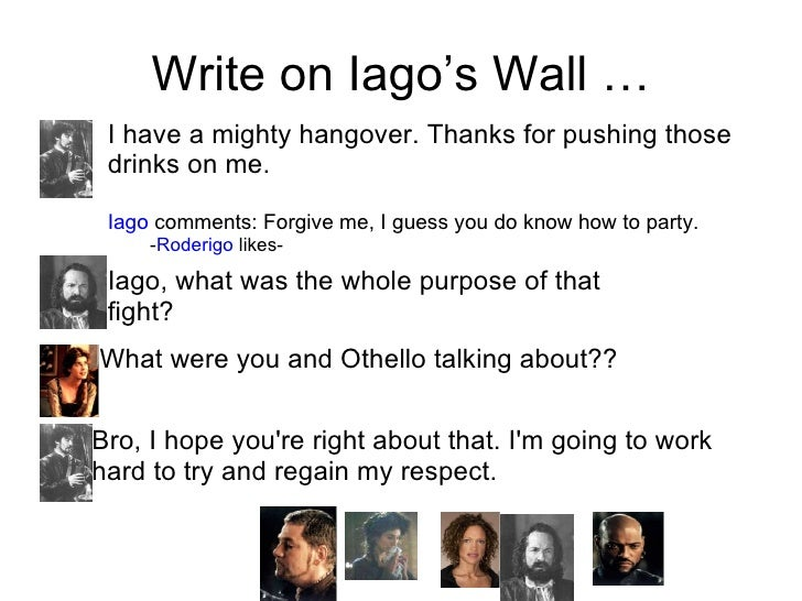 how does iago persuade othello Thus, iago begins his make-othello-jealous campaign by commenting on how   he's implying, as brabantio earlier did, that desdemona is not to be trusted,.