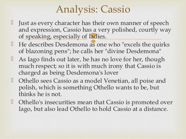 othello act ii notes analysis