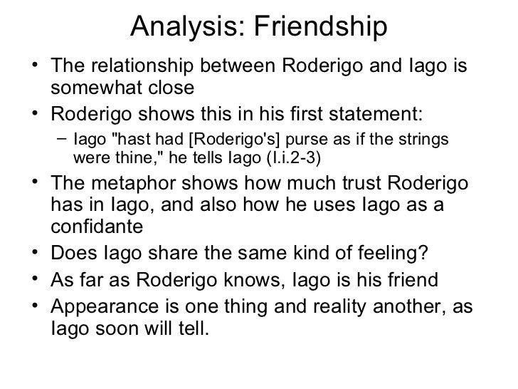 iago and roderigo relationship trust