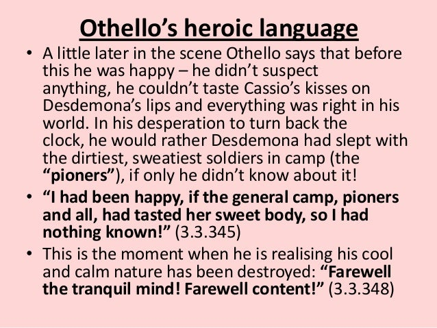 othello diction Othello, the moor of venice is one of william shakespeare's most famous plays adapted at least ten times for the screen (sometimes with setting changes).