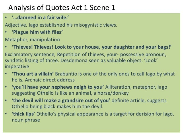 Othello By William Shakespeare Notes Quotes And Analysis By T Scar