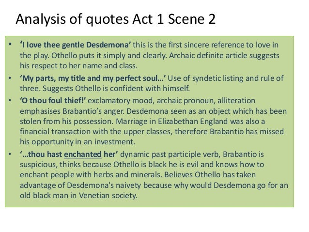 Othello by William Shakespeare, Notes, Quotes and Analysis