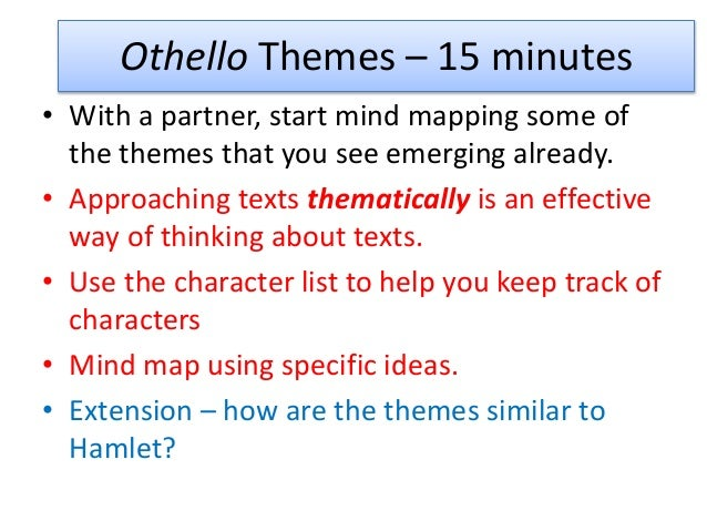 Thesis statement for othello and racism : Original content
