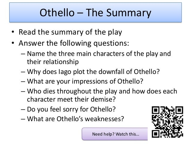Othello short summary