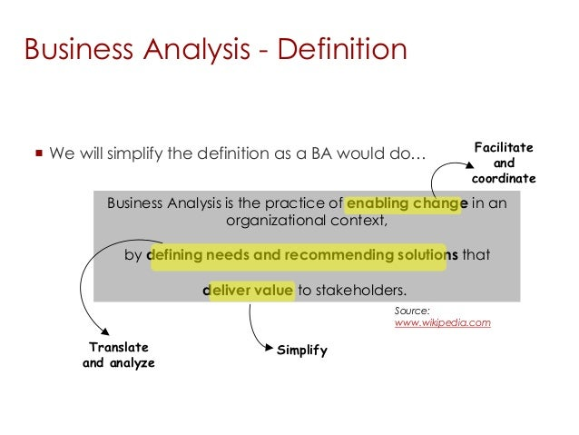 An analysis of the definition of business as a small business