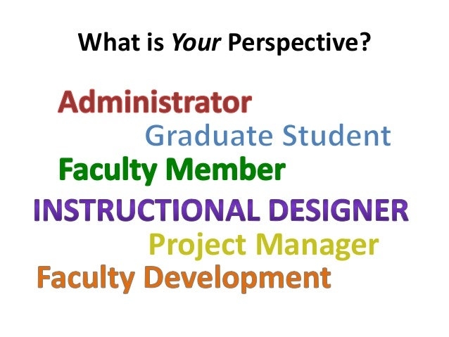 What is Your Perspective?  Project Manager