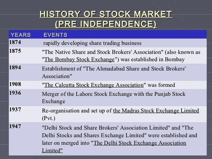 history of stock trading in india India sensex stock market index the sensex (bse30) is a major stock market index which tracks the performance of 30 major companies listed on the bombay stock exchange the companies are chosen based on the liquidity, trading volume and industry representation.