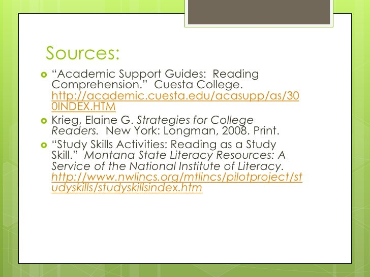 Other techniques to help increase reading comprehension