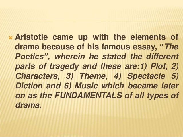 The Elements Of Drama 4