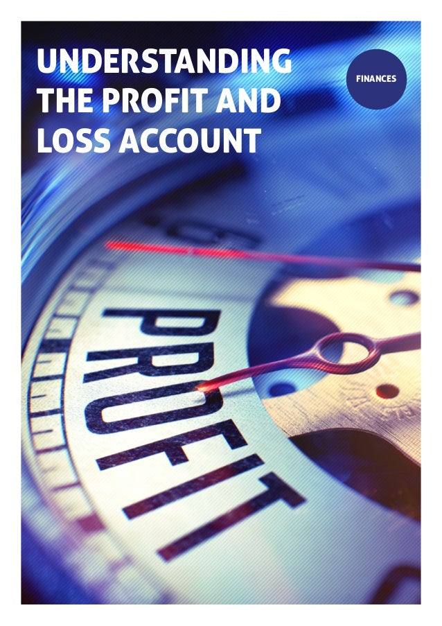 UNDERSTANDING THE PROFIT AND LOSS ACCOUNT FINANCES