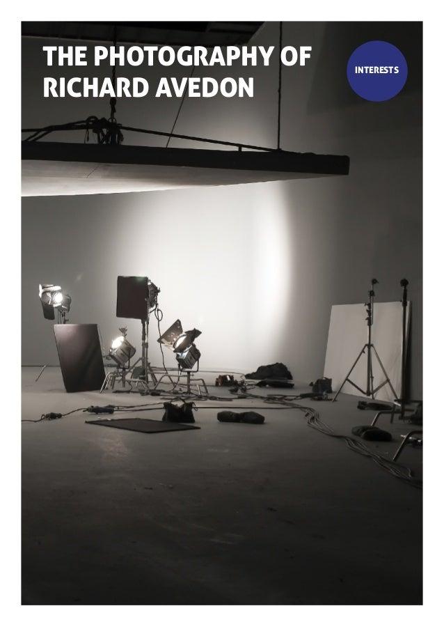 THE PHOTOGRAPHY OF RICHARD AVEDON INTERESTS