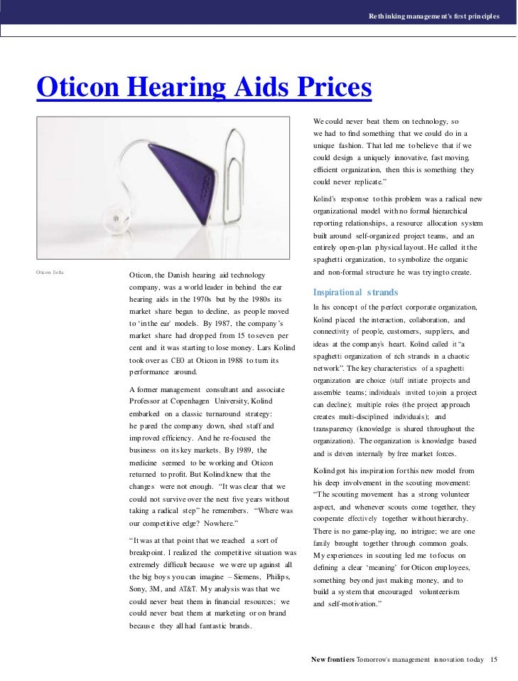 Rethinking manageme nt's first principlesOticon Hearing Aids Prices                                                        ...