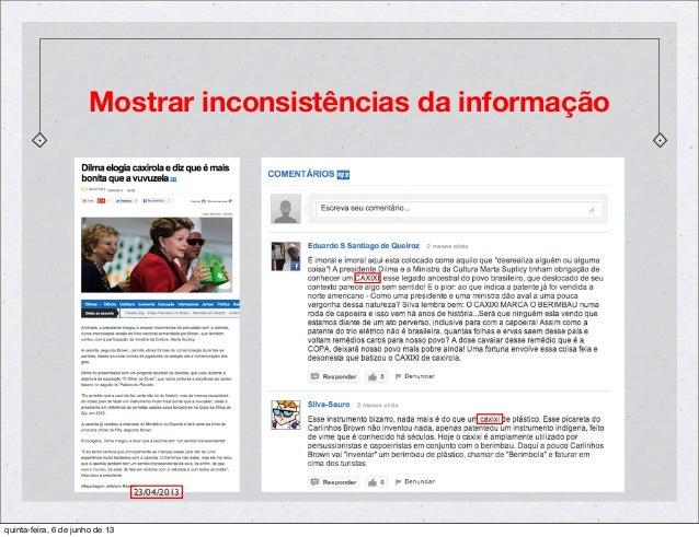 Mostrar inconsistências da informação23/04/2013quinta-feira, 6 de junho de 13