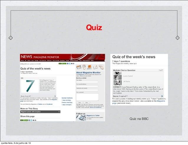 QuizQuiz na BBCquinta-feira, 6 de junho de 13