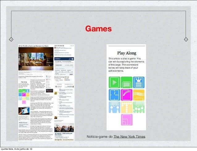 GamesNotícia-game do The New York Timesquinta-feira, 6 de junho de 13