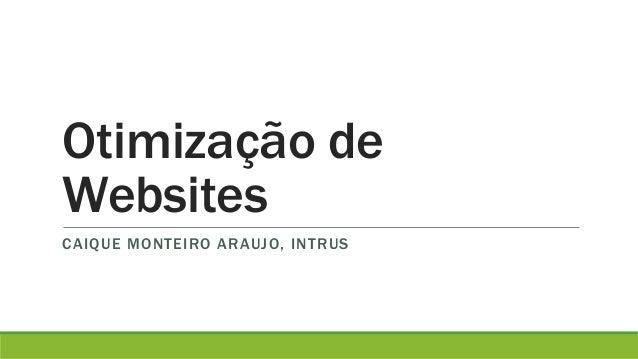 Otimização de  Websites  CAIQUE MONTEIRO ARAUJO, INTRUS
