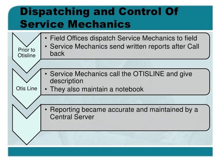 otisline case Essay case study on otisline employed by nao in 1985, most handled both call-backs and preventive maintenance.
