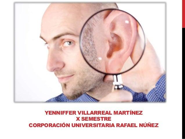 YENNIFFER VILLARREAL MARTÍNEZ X SEMESTRE CORPORACIÓN UNIVERSITARIA RAFAEL NÚÑEZ