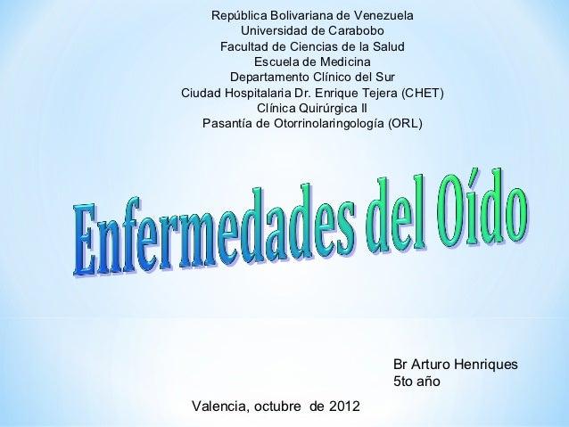 República Bolivariana de Venezuela         Universidad de Carabobo      Facultad de Ciencias de la Salud            Escuel...