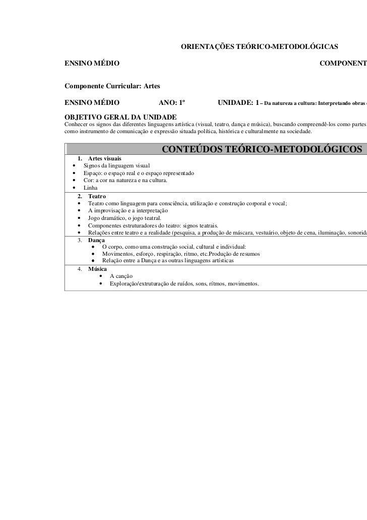 ORIENTAÇÕES TEÓRICO-METODOLÓGICASENSINO MÉDIO                                                                             ...