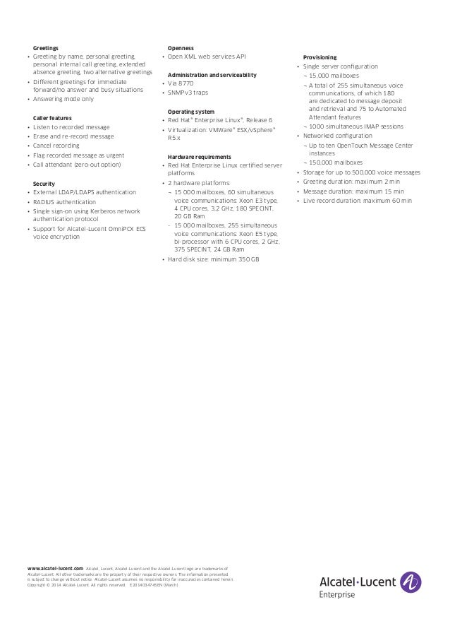 Open touch message center alcatel lucent voice services 4 m4hsunfo