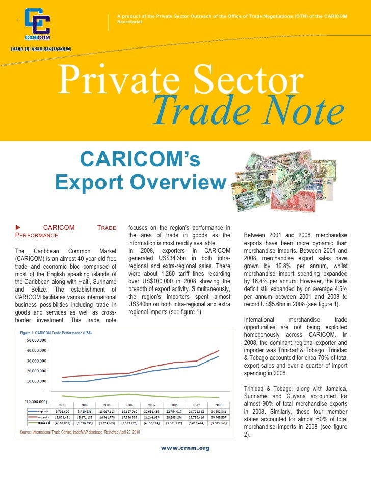A product of the Private Sector Outreach of the Office of Trade Negotiations (OTN) of the CARICOM+                        ...