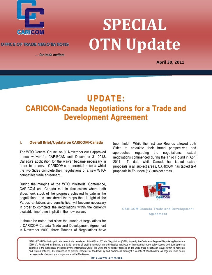 SPECIAL                                                                      OTNUpdate             OFFICE OF TRADE NEG...