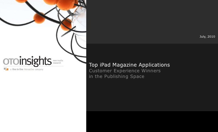 Webinar: Top iPad Magazine Applications: Customer Experience Winners