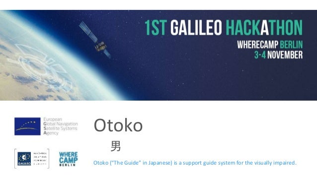 """Otoko 男 Otoko (""""The Guide"""" in Japanese) is a support guide system for the visually impaired."""