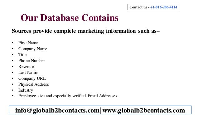 Otolaryngologists Mailing List Slide 3