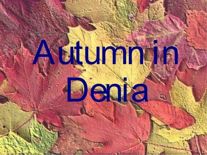 Autumn in Denia