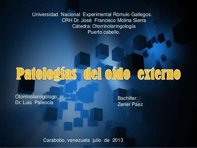 Universidad Nacional Experimental Rómulo Gallegos. CRH Dr. José Francisco Molina Sierra Cátedra: Otorrinolaringología Puer...