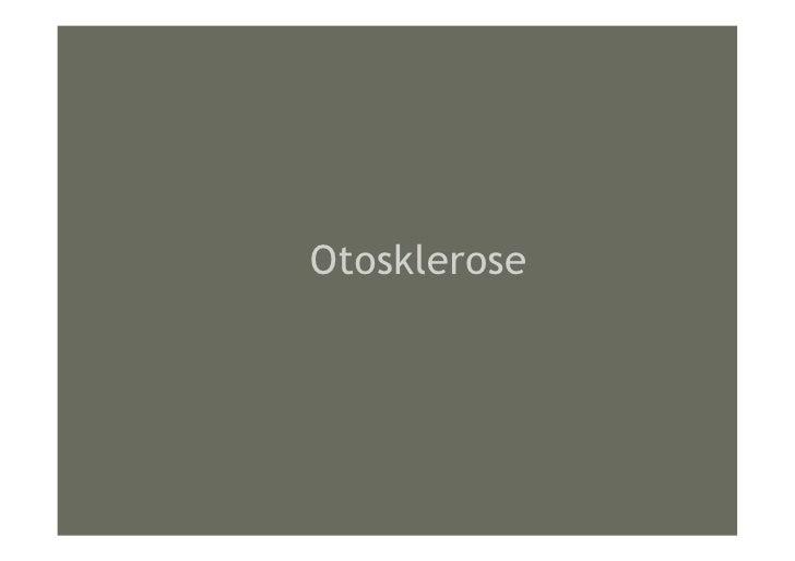 Otosklerose