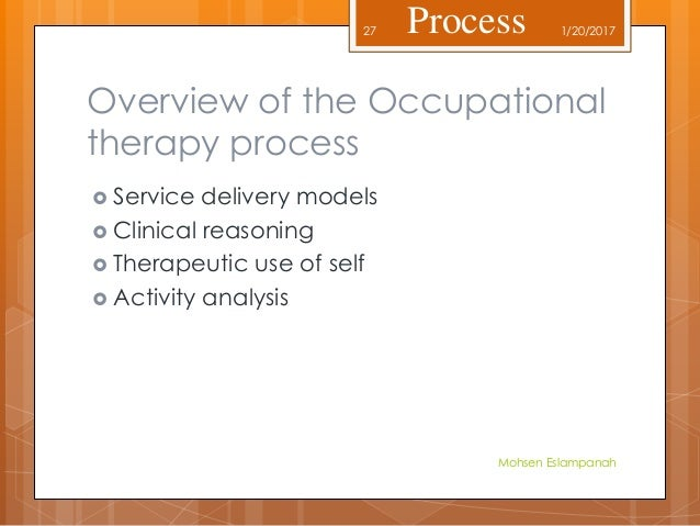 an analysis of the occupational therapists A sample of 110 occupational therapists working in the madrid autonomous  region were  hierarchical multiple regression analysis revealed highly  significant.