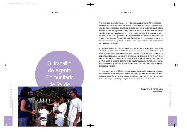 AF-FOLHETO SAUDE  31-10-2001  15:55  Page 1  SAÚDE  Prefácio  A primeira edição deste manual - O Trabalho do Agente Comuni...
