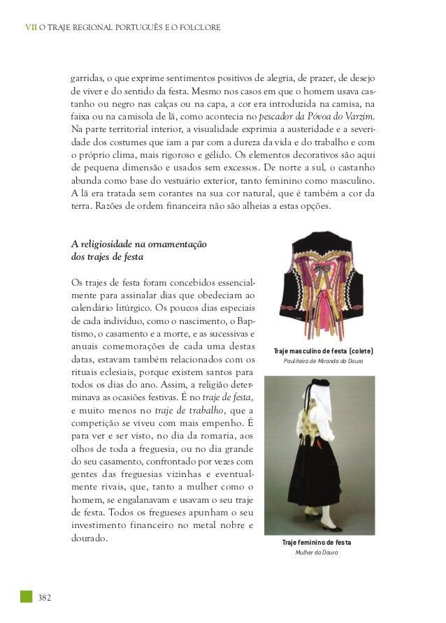 O traje tradicional portugues e o folclore