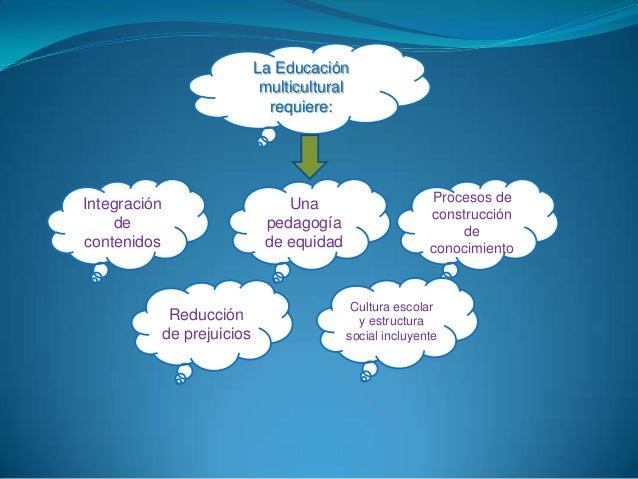 La Educación                               multicultural                                requiere:Integración              ...