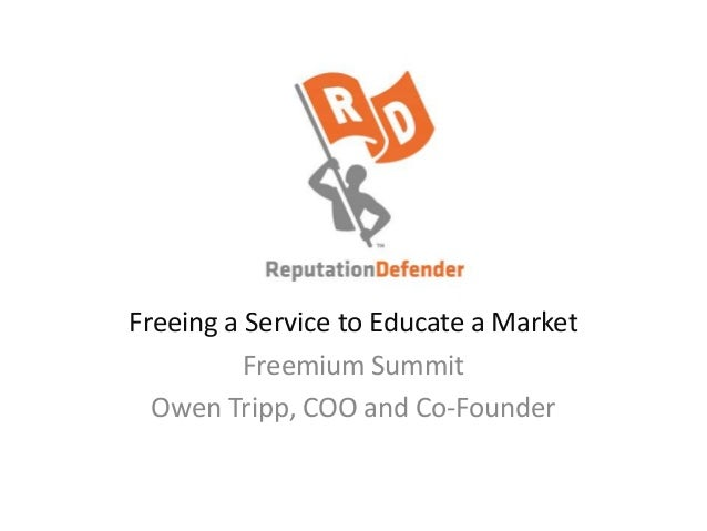 Freeing a Service to Educate a Market Freemium Summit Owen Tripp, COO and Co-Founder