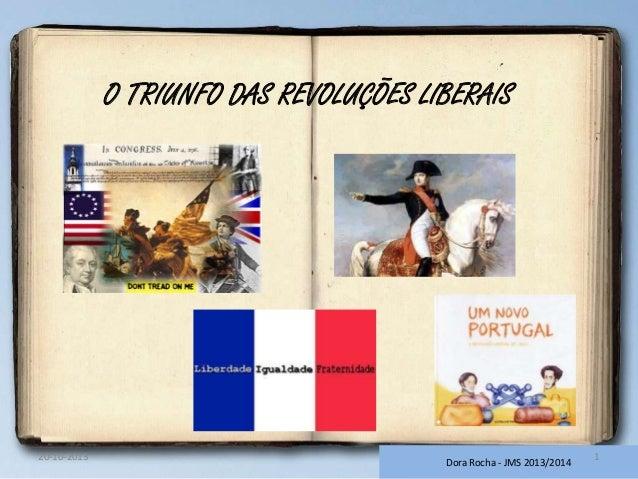 O TRIUNFO DAS REVOLUÇÕES LIBERAIS  20-10-2013  Dora Rocha - JMS 2013/2014  1